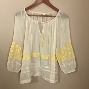 Anthropologie Medium Embroidered Top Like New